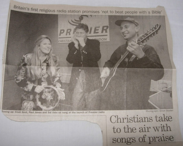 Press Cutting Songs Of Praise